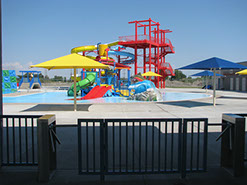 Rexburg Rapids splash pad and water slides