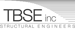 TBSE Inc. Structural Engineers logo with white background